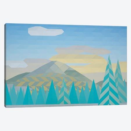 Through the Pines Canvas Print #JYO89} by Jun Youngjin Canvas Wall Art