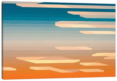 Blue and Orange Abyss Canvas Art Print