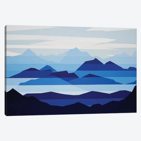 Blue Haze Canvas Print #JYO9} by Jun Youngjin Canvas Art Print