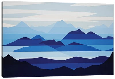 Blue Haze Canvas Art Print