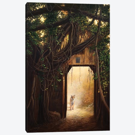 Gates Of Ranthambhore - Bengal Tiger Canvas Print #JYP58} by Jeremy Paul Canvas Art