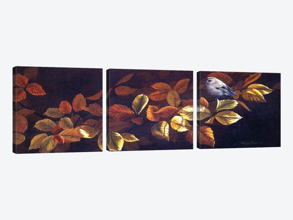 Autumn Gold - Goldcrests by Jeremy Paul 3-piece Canvas Print