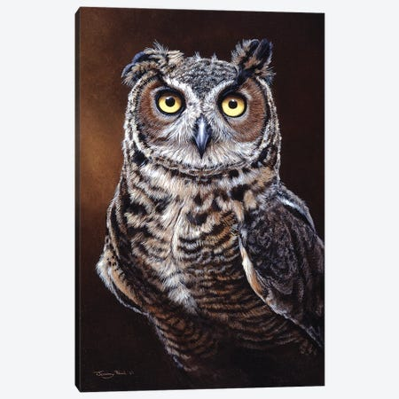 Great Horned Owl Canvas Print #JYP78} by Jeremy Paul Canvas Wall Art