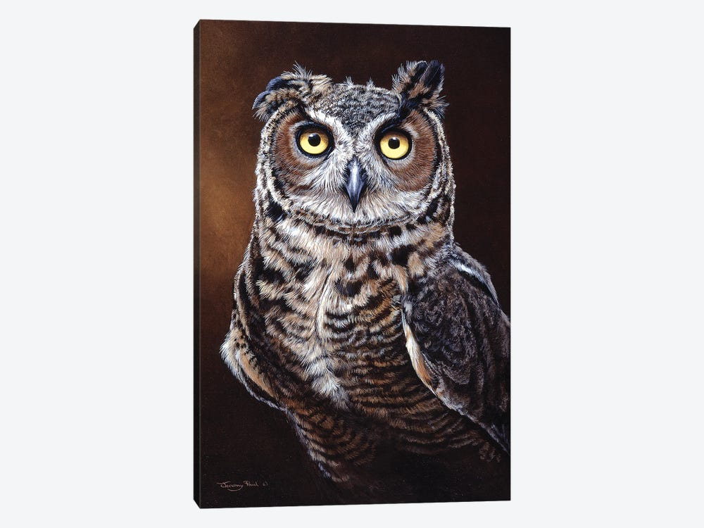 Great Horned Owl by Jeremy Paul 1-piece Canvas Artwork