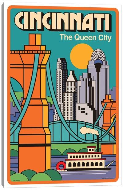 Cincinnati Travel Poster Canvas Art Print