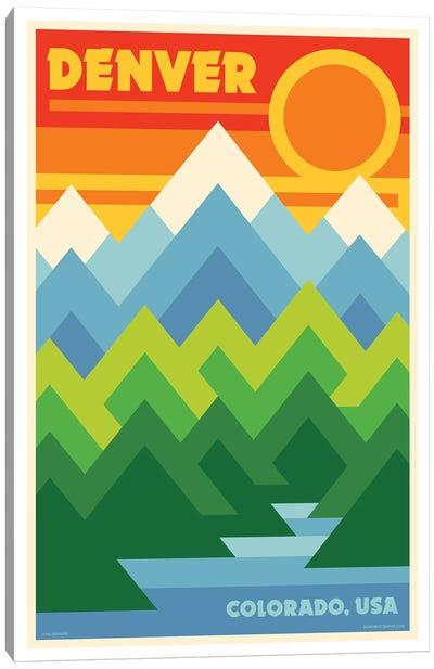 Denver Retro Travel Poster Canvas Art Print