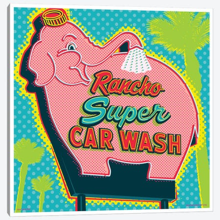 Elephant Car Wash Rancho Canvas Print #JZA17} by Jim Zahniser Canvas Artwork