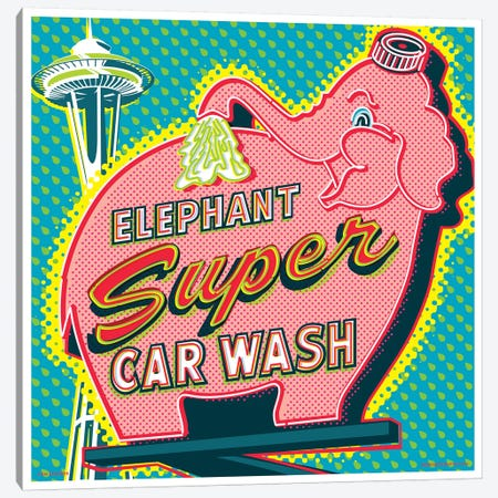 Elephant Car Wash Seattle Canvas Print #JZA18} by Jim Zahniser Art Print