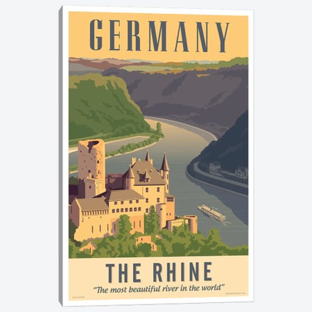 Germany Travel Poster Canvas Print #JZA19} by Jim Zahniser Art Print