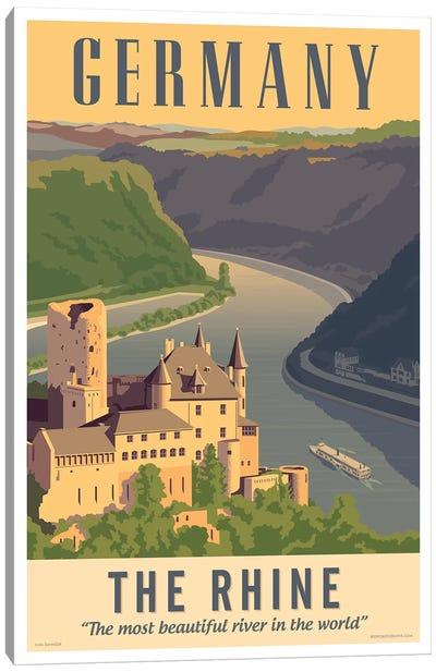 Germany Travel Poster Canvas Art Print