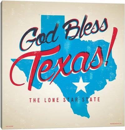 God Bless Texas Poster Canvas Art Print
