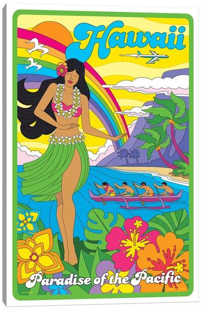 Hawaii Pop Art Travel Poster Canvas Art Print