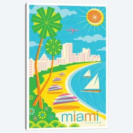Miami Modern Travel Poster Canvas Print #JZA26} by Jim Zahniser Canvas Art Print