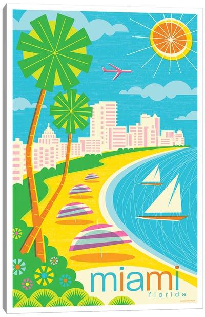 Miami Modern Travel Poster Canvas Art Print