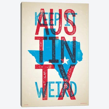 Austin Keep It Weird Poster Canvas Print #JZA2} by Jim Zahniser Canvas Art
