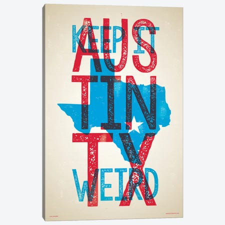 Austin Keep It Weird Poster Canvas Print #JZA2} by Jim Zahniser Canvas Art