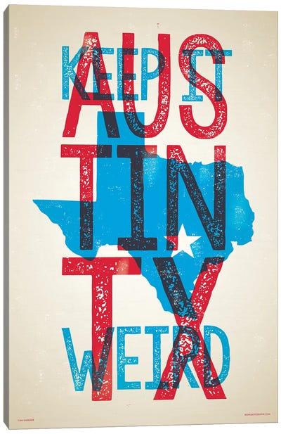 Austin Keep It Weird Poster Canvas Art Print