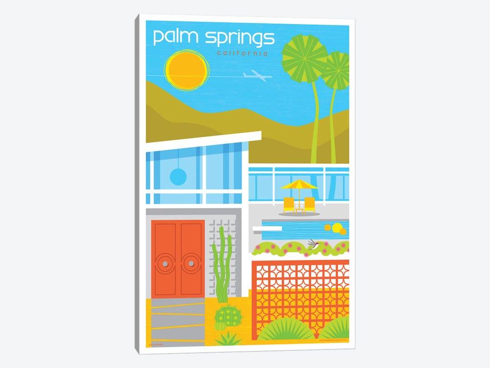 Palm Springs Mid Century House Travel Poster by Jim Zahniser 1-piece Art Print