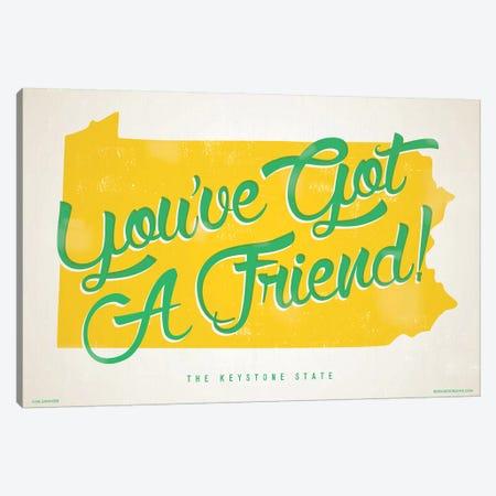 Pennsylvania You've Got A Friend Poster Canvas Print #JZA32} by Jim Zahniser Canvas Print