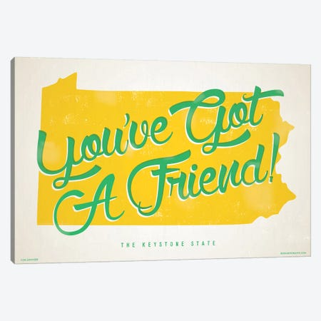 Pennsylvania You've Got A Friend Poster Canvas Print #JZA32} by Jim Zahniser Canvas Print