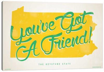 Pennsylvania You've Got A Friend Poster Canvas Art Print