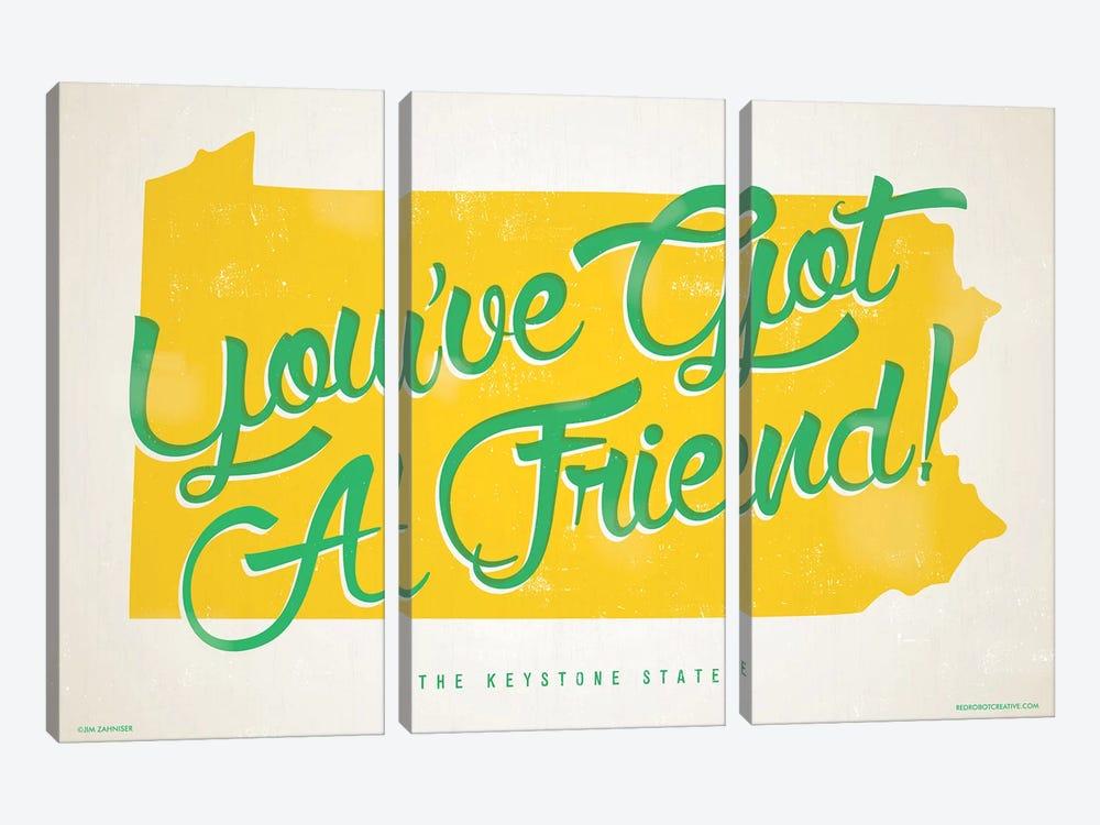 Pennsylvania You've Got A Friend Poster by Jim Zahniser 3-piece Canvas Art
