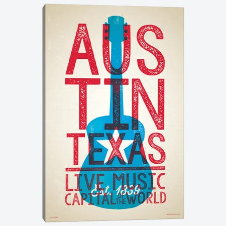 Austin Live Music Capital of the World Canvas Print #JZA3} by Jim Zahniser Canvas Wall Art