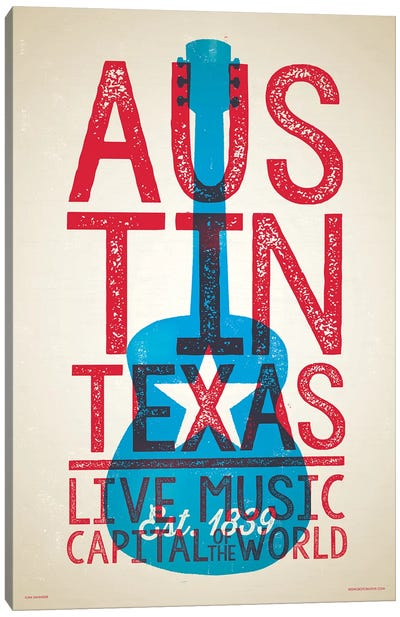 Austin Live Music Capital of the World Canvas Art Print