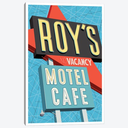 Roy's Motel Poster Canvas Print #JZA41} by Jim Zahniser Canvas Artwork