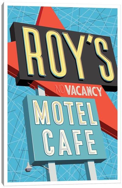 Roy's Motel Poster Canvas Art Print