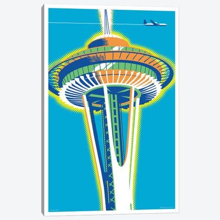 Seattle Space Needle Poster Canvas Print #JZA47} by Jim Zahniser Art Print