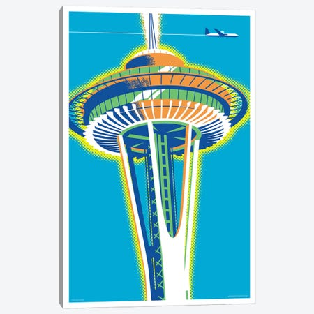 Seattle Space Needle Poster Canvas Print #JZA47} by Jim Zahniser Art Print
