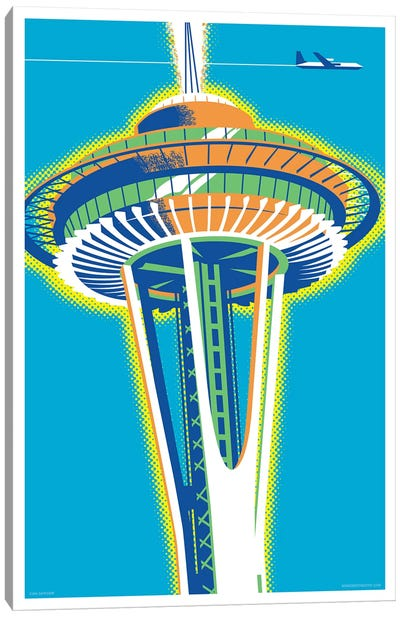 Seattle Space Needle Poster Canvas Art Print