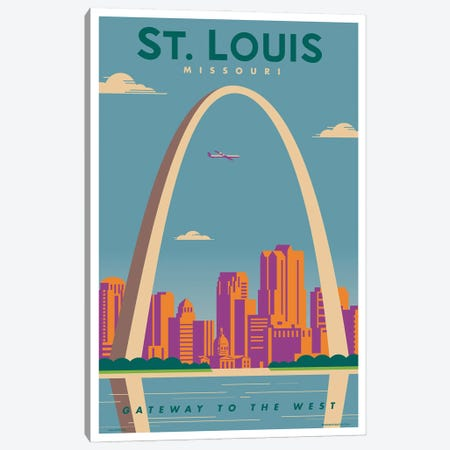 St. Louis Travel Poster Canvas Print #JZA48} by Jim Zahniser Canvas Artwork