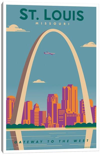 St. Louis Travel Poster Canvas Art Print