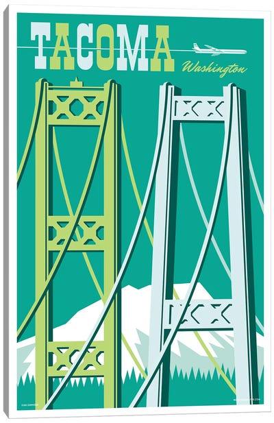 Tacoma Bridges Travel Poster I Canvas Art Print