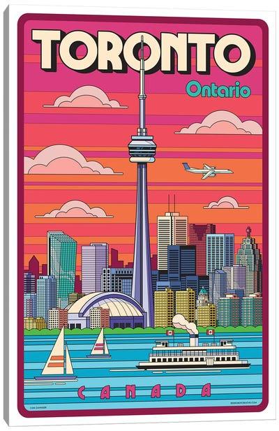 Toronto Pop Art Travel Poster Canvas Art Print