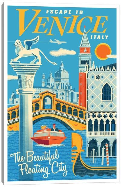 Venice Travel Poster I Canvas Art Print