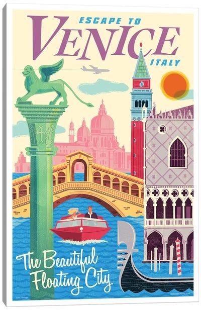 Venice Travel Poster II Canvas Art Print