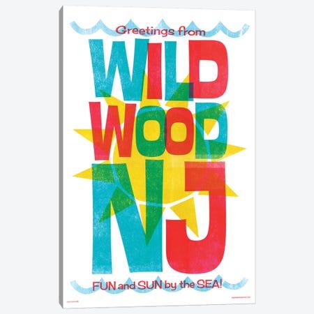 Wildwood New Jersey Travel Poster Canvas Print #JZA56} by Jim Zahniser Canvas Artwork