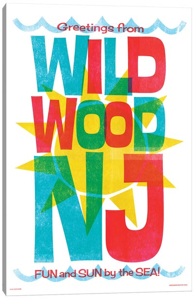 Wildwood New Jersey Travel Poster Canvas Art Print