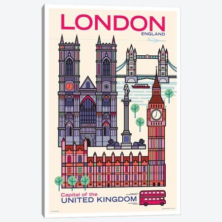 London Travel Poster Canvas Print #JZA57} by Jim Zahniser Canvas Artwork