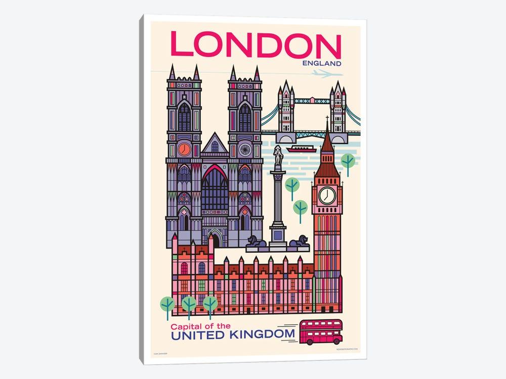 London Travel Poster by Jim Zahniser 1-piece Art Print