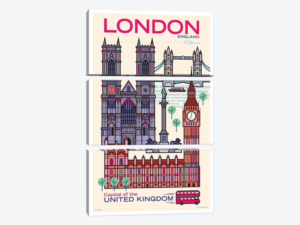 London Travel Poster by Jim Zahniser 3-piece Art Print
