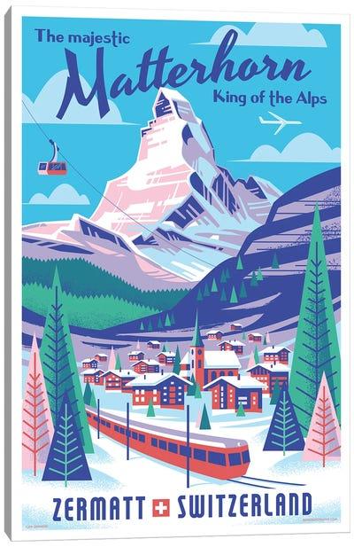 Matterhorn Switzerland Travel Poster Canvas Art Print