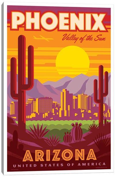 Phoenix Travel Poster Canvas Art Print
