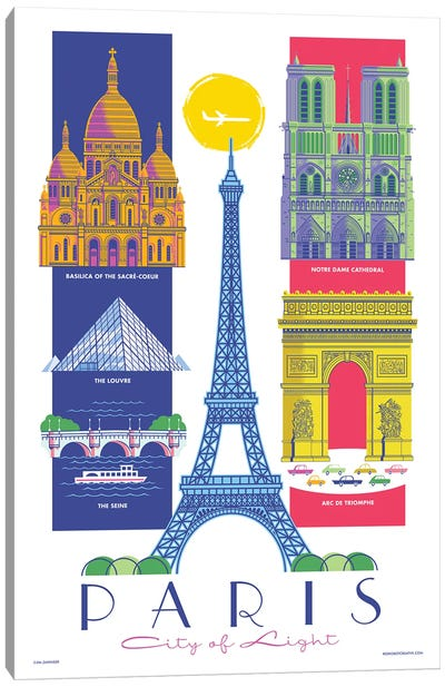 Paris Travel Poster Canvas Art Print