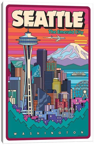 Seattle Pop Art Canvas Art Print