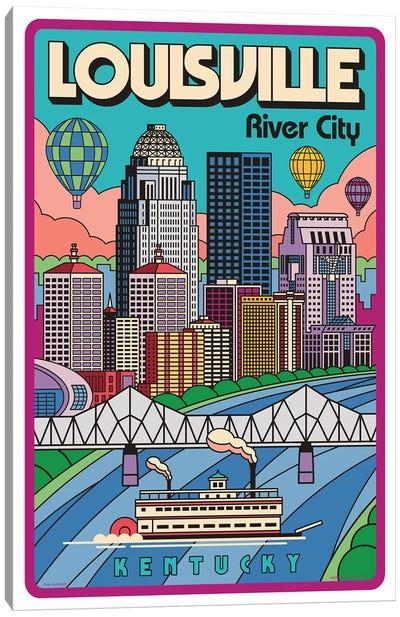 Louisville Pop Art Travel Poster Canvas Art Print