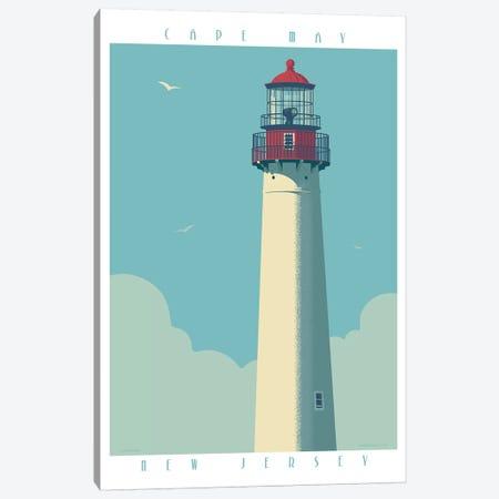 Cape May Lighthouse Travel Poster Canvas Print #JZA6} by Jim Zahniser Art Print